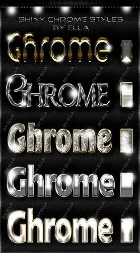Качественные стили для дизайна в фотошоп -Хром 0_c96e0_50410091_L