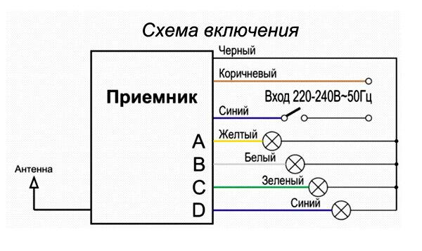 Дистанционное освещение схема