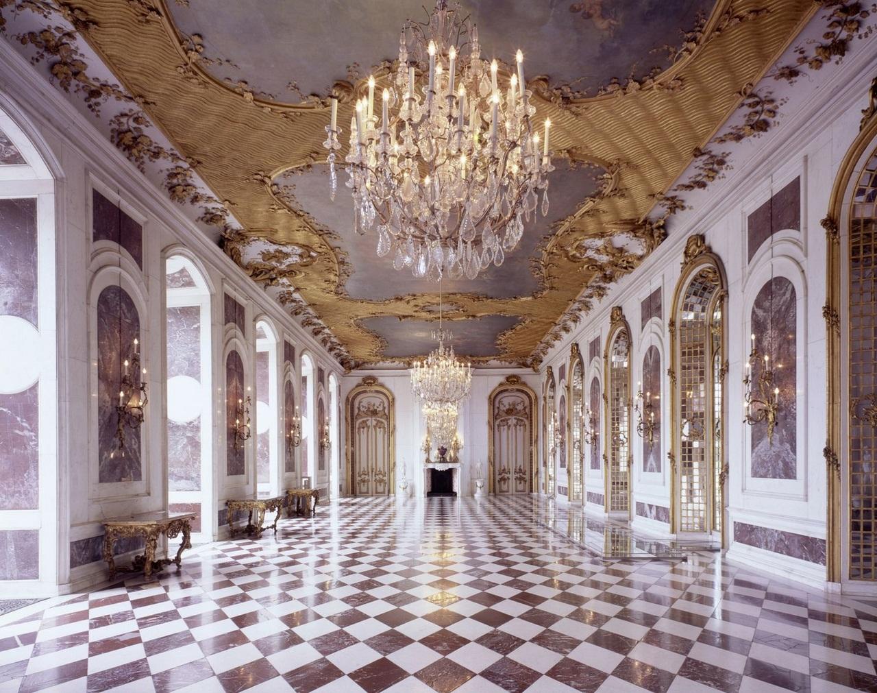 Potsdam, Park Sanssouci, Neues Palais, Marmorgalerie, R.: 178,  Raumansicht.