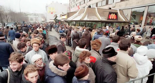 Первый Макдональдс в Советском Союзе 23 года назад