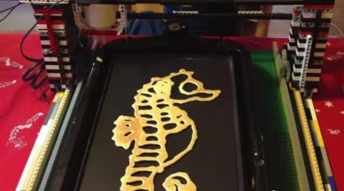 Рисунки из блинов на 3D принтере