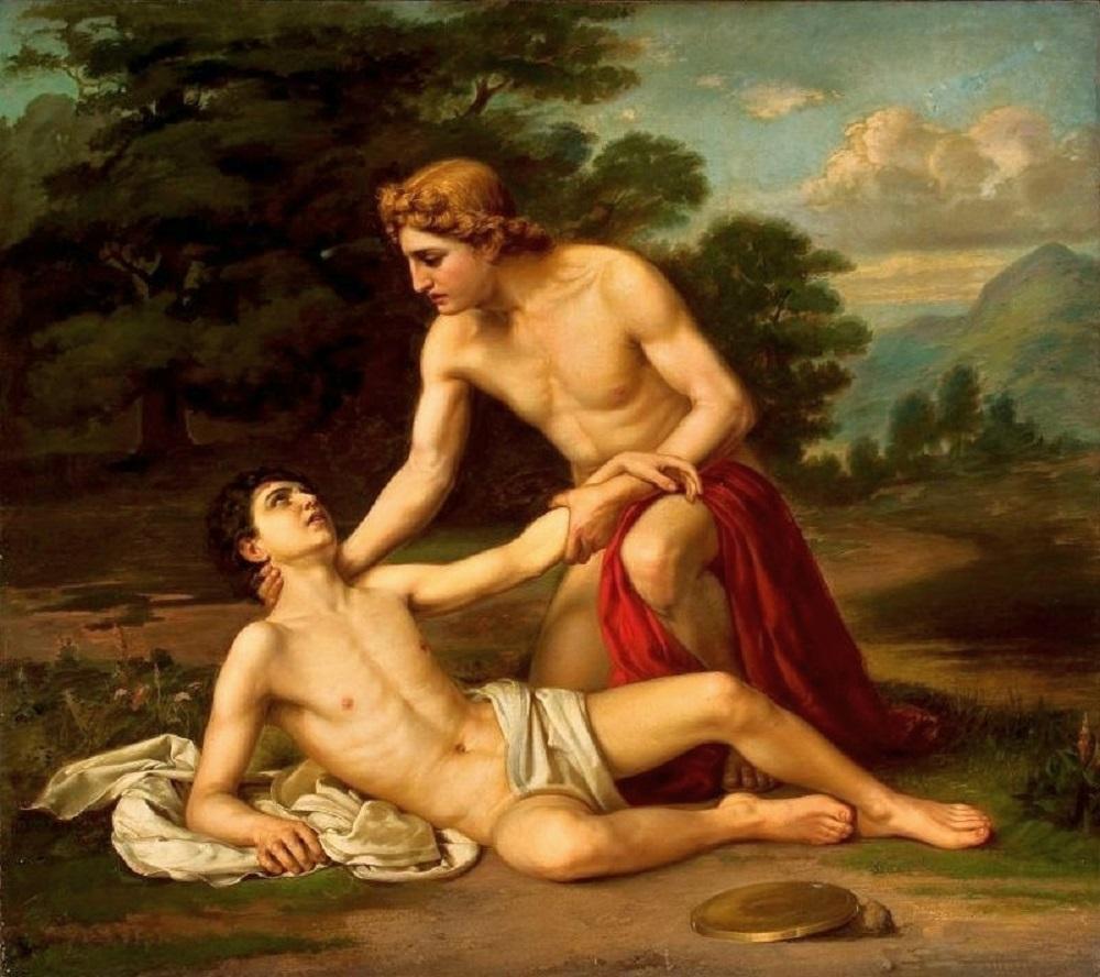 я «Смерть Гиацинта» 150 × 115 см. Холст, масло. Национальный музей Варшавы, Польша..jpg