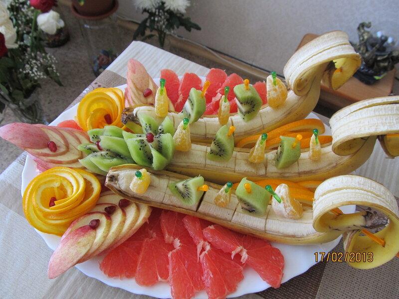 Как красиво нарезать фрукты фото в домашних условиях
