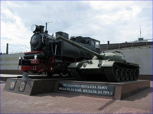 Танк и паровоз в музее (03.04.2013)