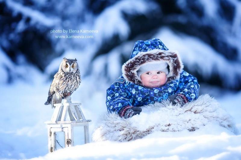 Зимняя сказка от детского фотографа