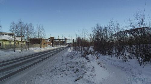 Фото города Инта №3158  Улица Индустриальная в восточном направлении, в районе входа на