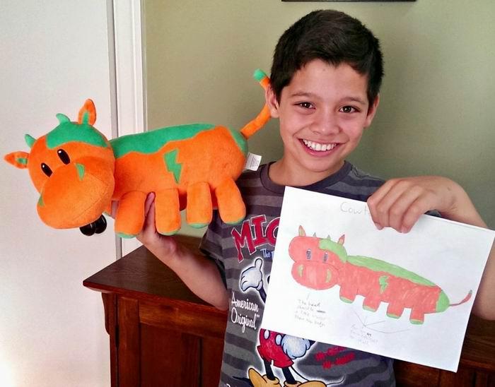 Плюшевые игрушки по рисункам маленьких клиентов. b50Alex Furmansky и компания Budsies.