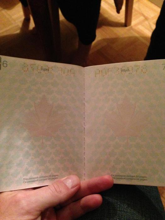 Новый паспорт гражданина Канады
