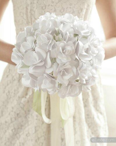 Бумажный букет для невесты