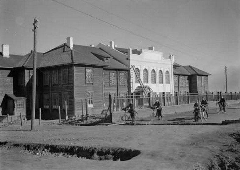 Петрозаводск (Petroskoi, Яанислинна, Äänislinna) во время финской оккупации.