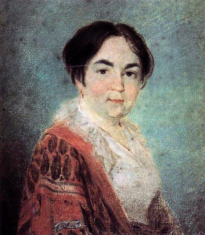 Алексей Венецианов. Портрет неизвестной.1818