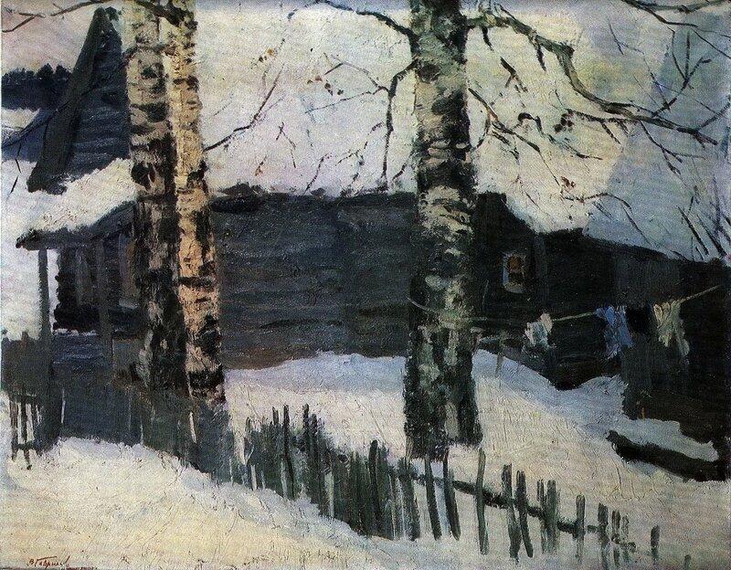 Русские художники, живопись, В.Н. Гаврилов, Берёзы