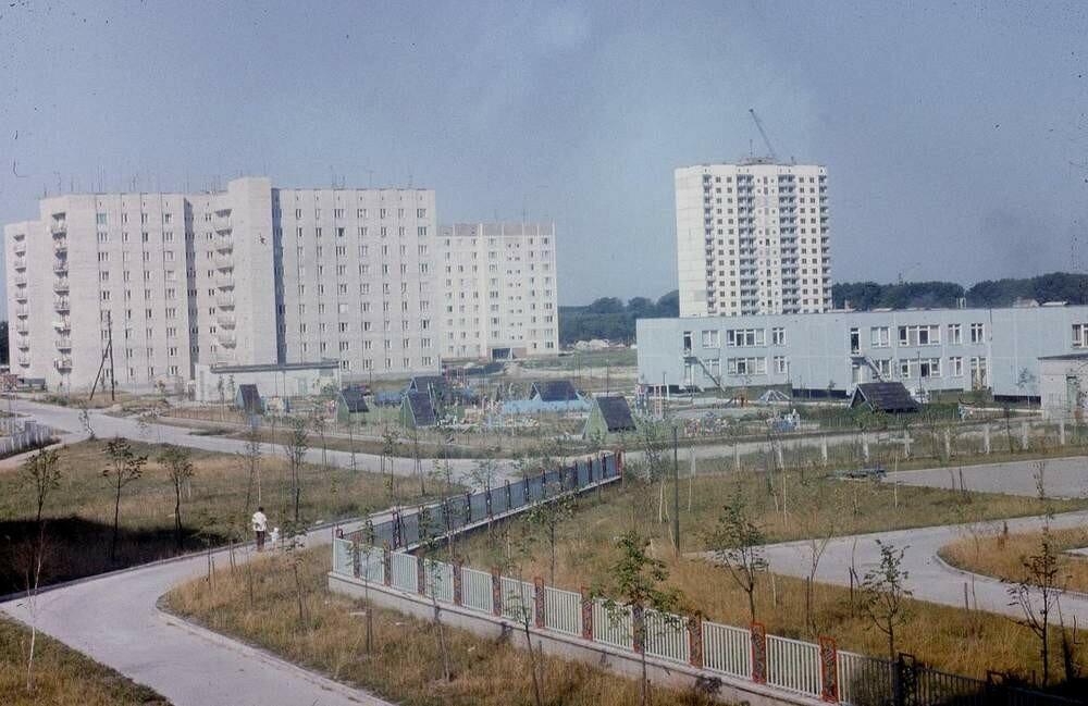 Жилой квартал Припяти.