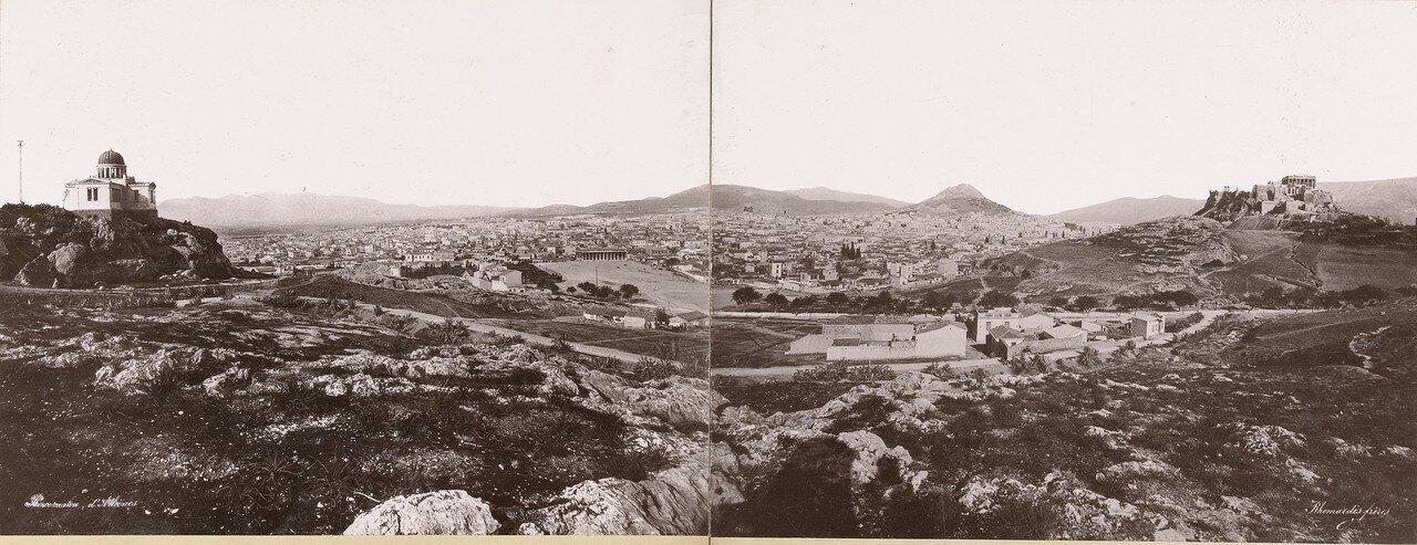 1876. Панорама Афин