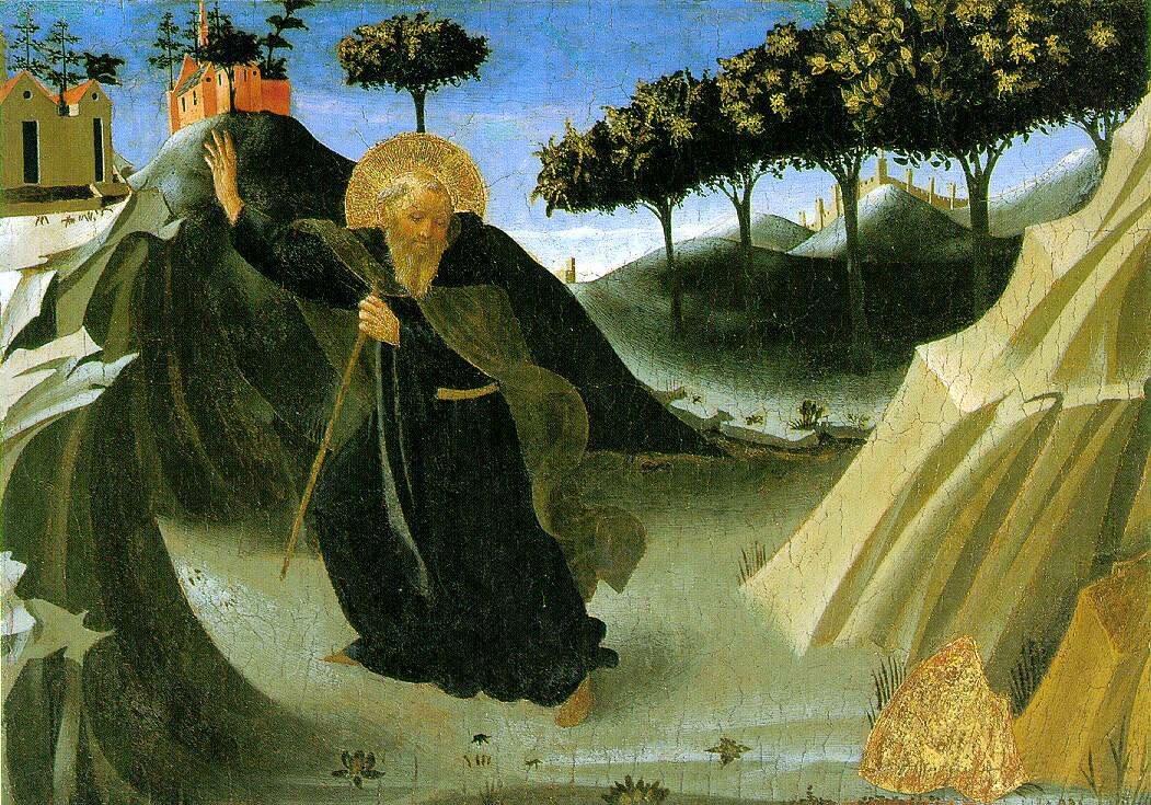 Angelico,_Sant'antonio_abate_tentato_dall'oro,_houston ок. 1436.jpg