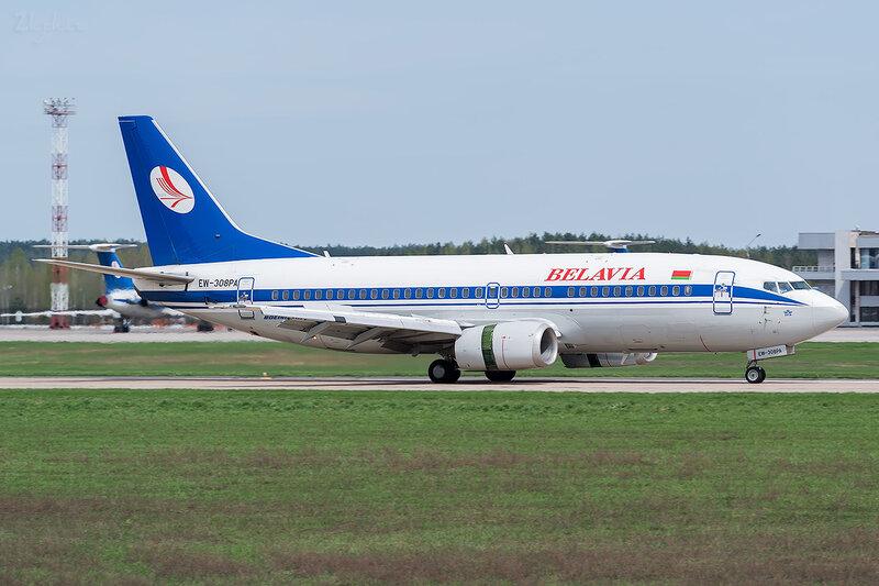Boeing 737-3K2 (EW-308PA) Белавиа D800328