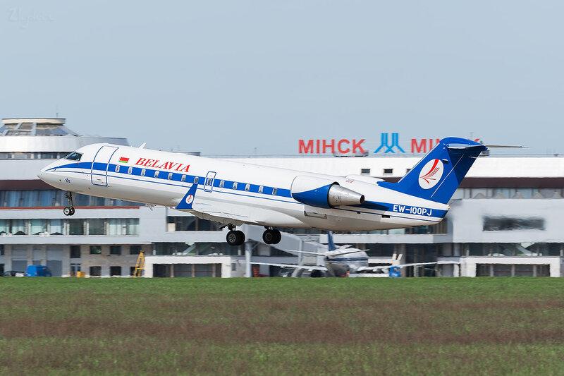 Bombardier CRJ-100ER (EW-100PJ) Белавиа D800382