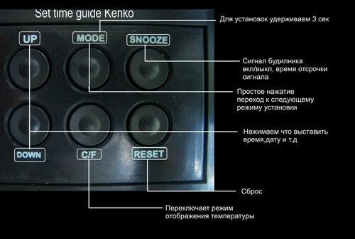 Часы кенко кк-8052 инструкция