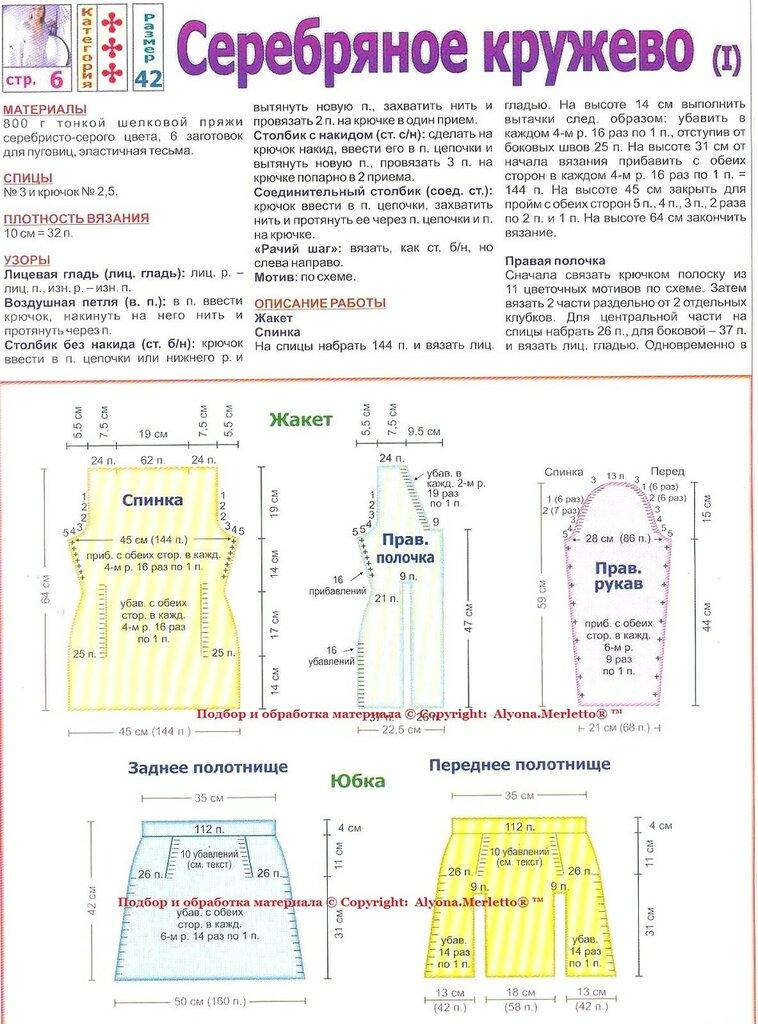 Вязание крючком пончо с подробными схемами 125