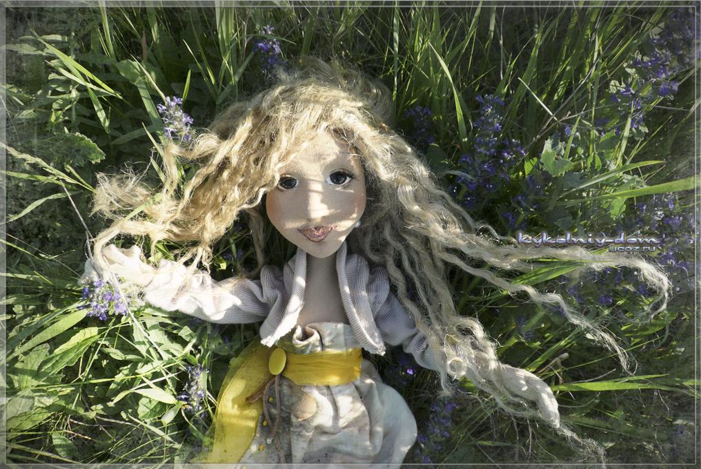 интерьерная текстильная шарнирная кукла Helene