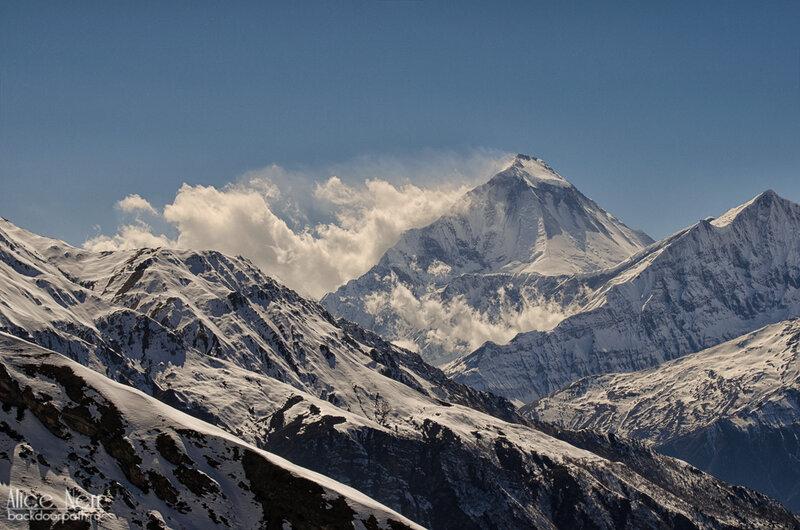 гималайский горный хребет, гималаи, непал, трек вокруг аннапурны, виды
