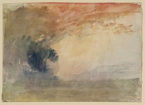 Landscape: Evening circa 1820-30 by Joseph Mallord William Turner 1775-1851