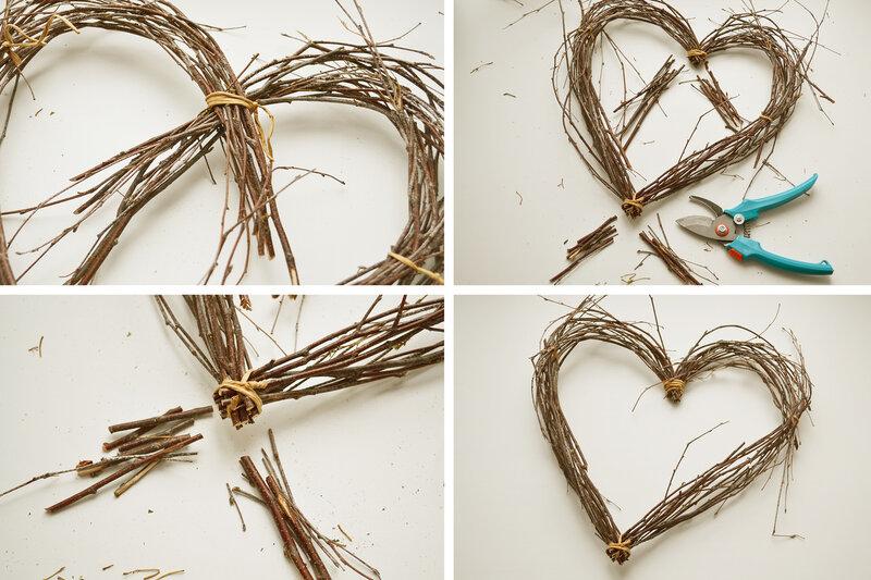 Как сделать сердце из лозы