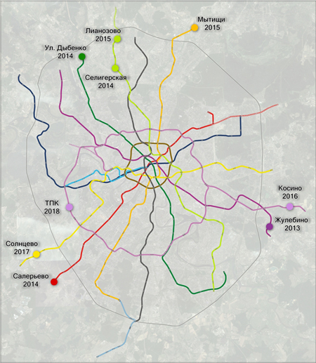Схема развития Московского