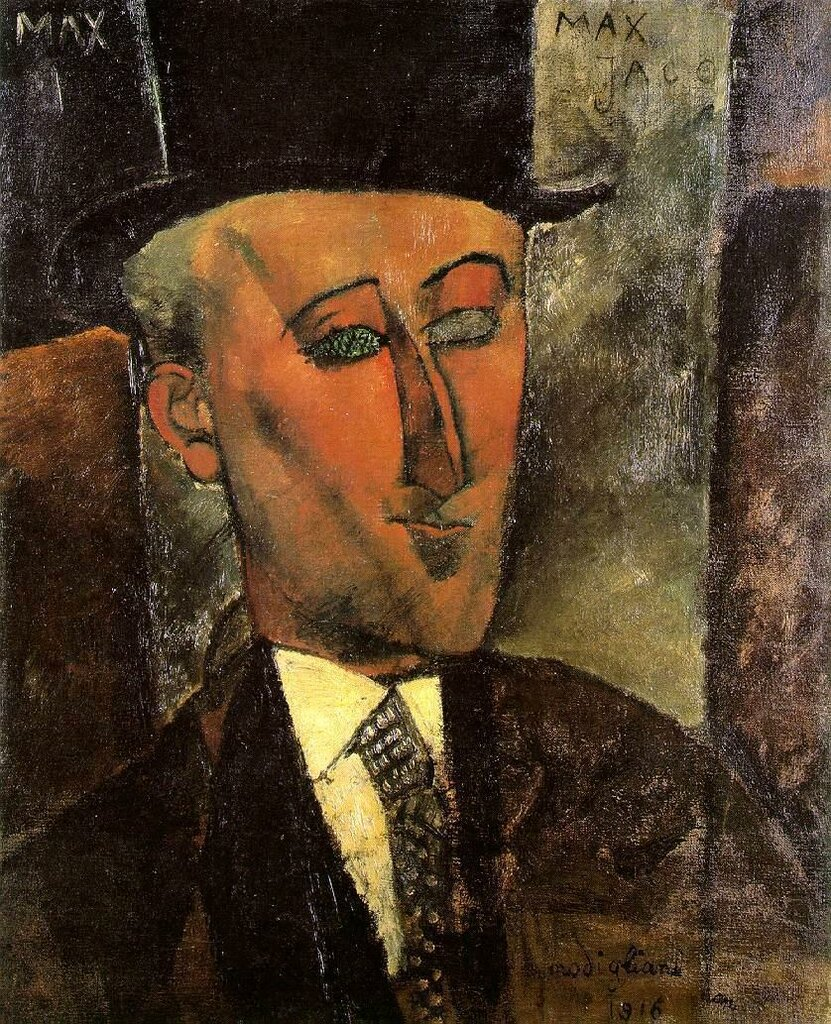 Portrait of Max Jacob - 1916 - Kunstsammlung Nordrhein-Westfalen - Dusseldorf - Painting - oil on canvas.jpeg