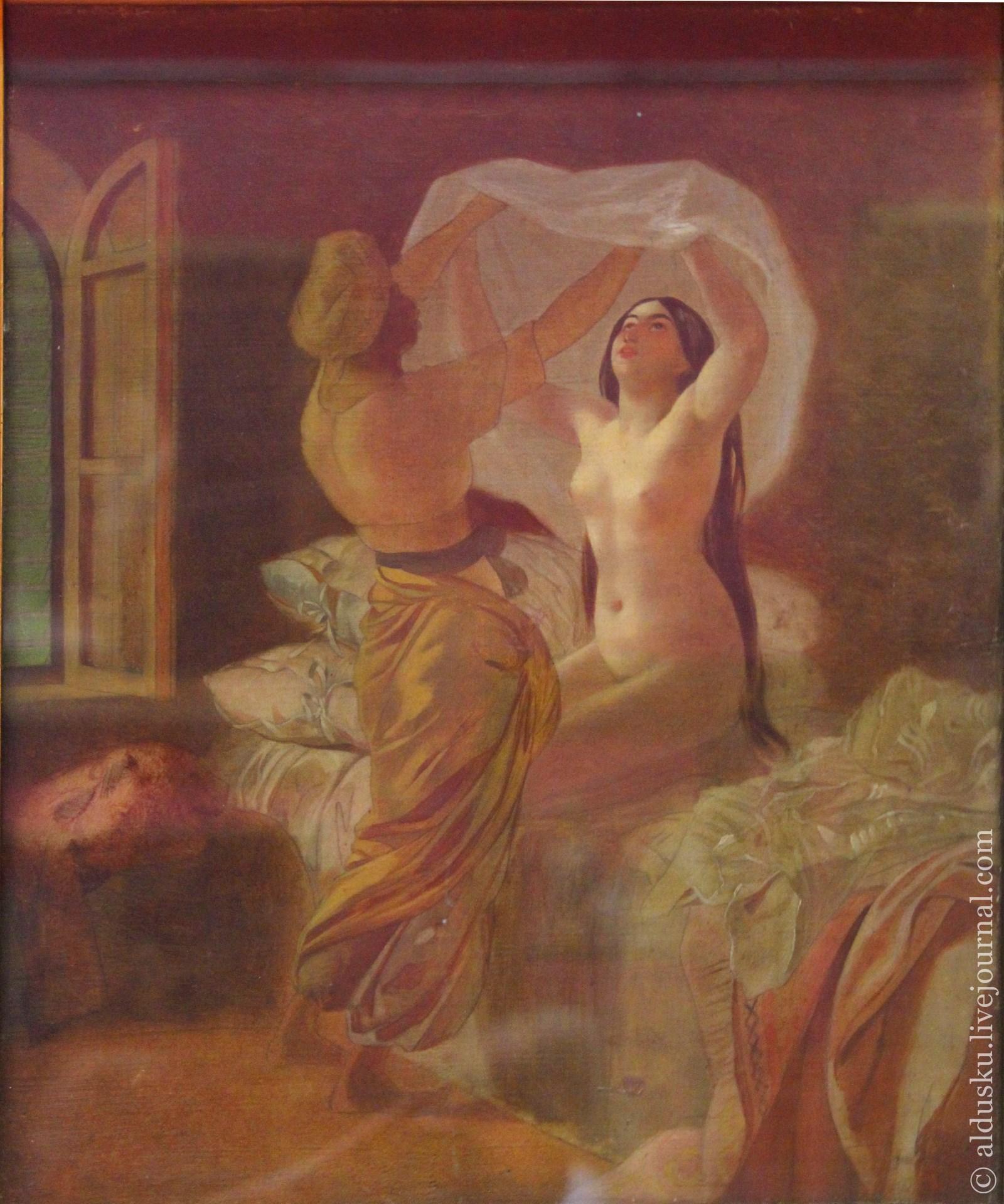 Брюллов К.П. (1799–1852) По установлению Аллаха раз в год меняется рубаха. 1845. Холст, масло