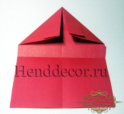 Конверт сердце оригами