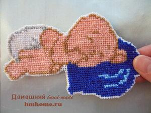 Как украсить детское одеяло вышивкой?