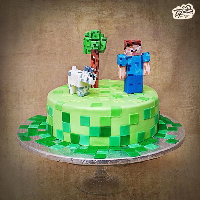 Миникрафт как сделать торт