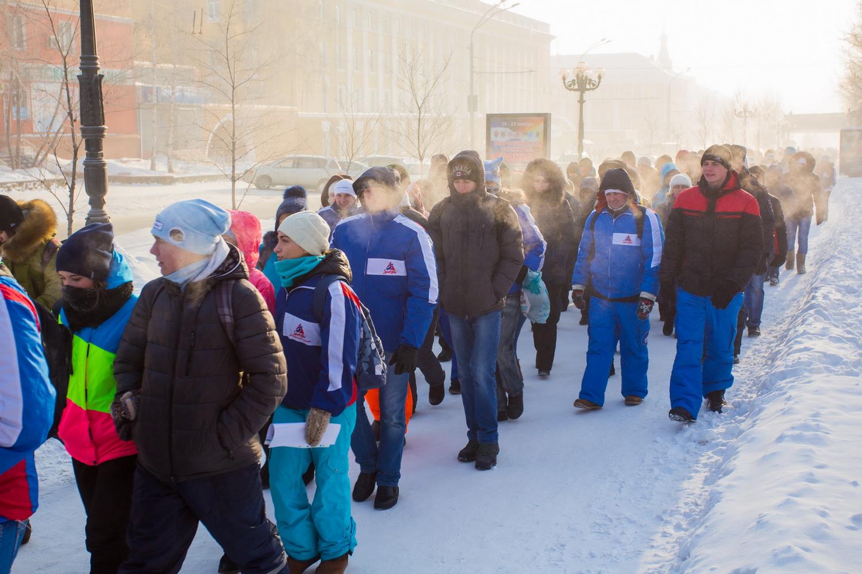 В Барнауле в день памяти святой мученицы Татьяны молодежь совершила крестный ход