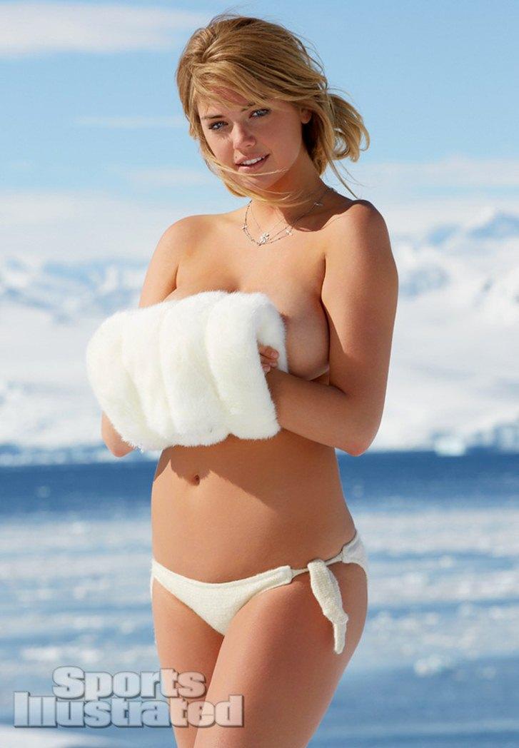 в снежной Арктике в купальнике - Кейт Аптон / Kate Upton - Sports Illustrated 2013 Swimsuit