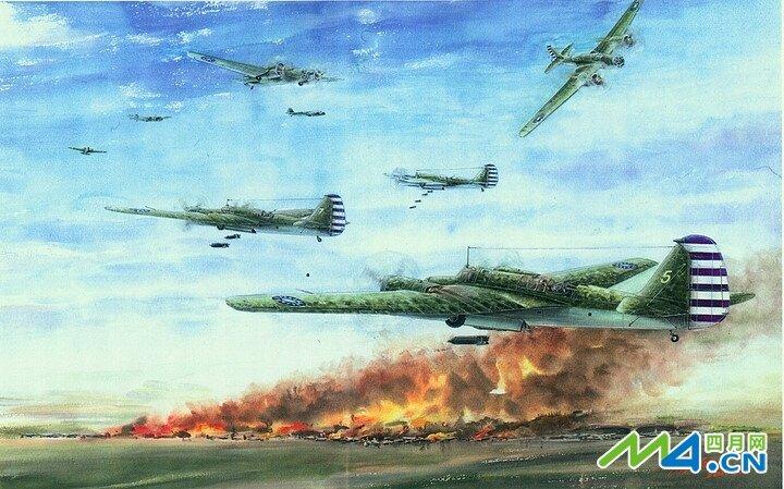 Raid on Formosa. Artwork by Chen Yingming