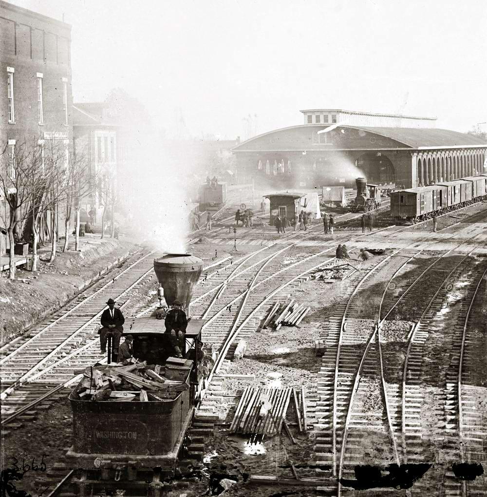 Железные дороги конца 19-го - начала 20-го века на снимках американских фотографов (6)