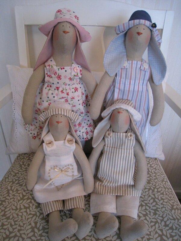 Новые выкройки кукол тильда