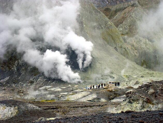 Вулкан Уайт-Айленд. Новая Зеландия