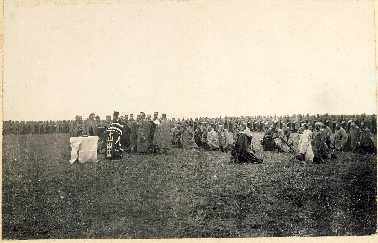 Панихида о павших в бою воинах. Маньчжурия. 1905 год