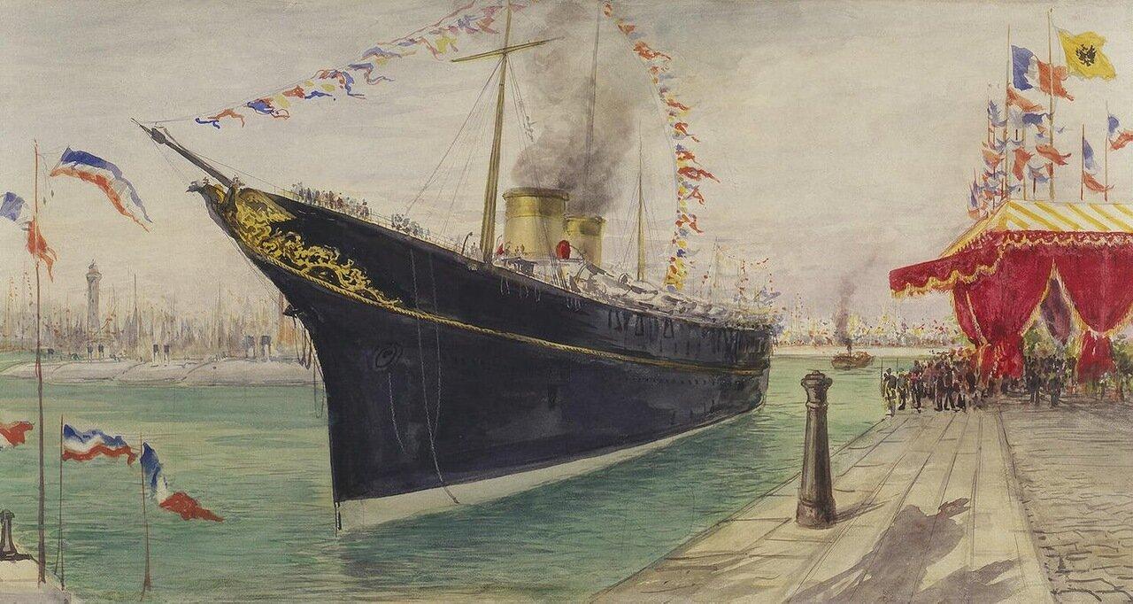 Яхта Штандарт на причале в Дюнкерке