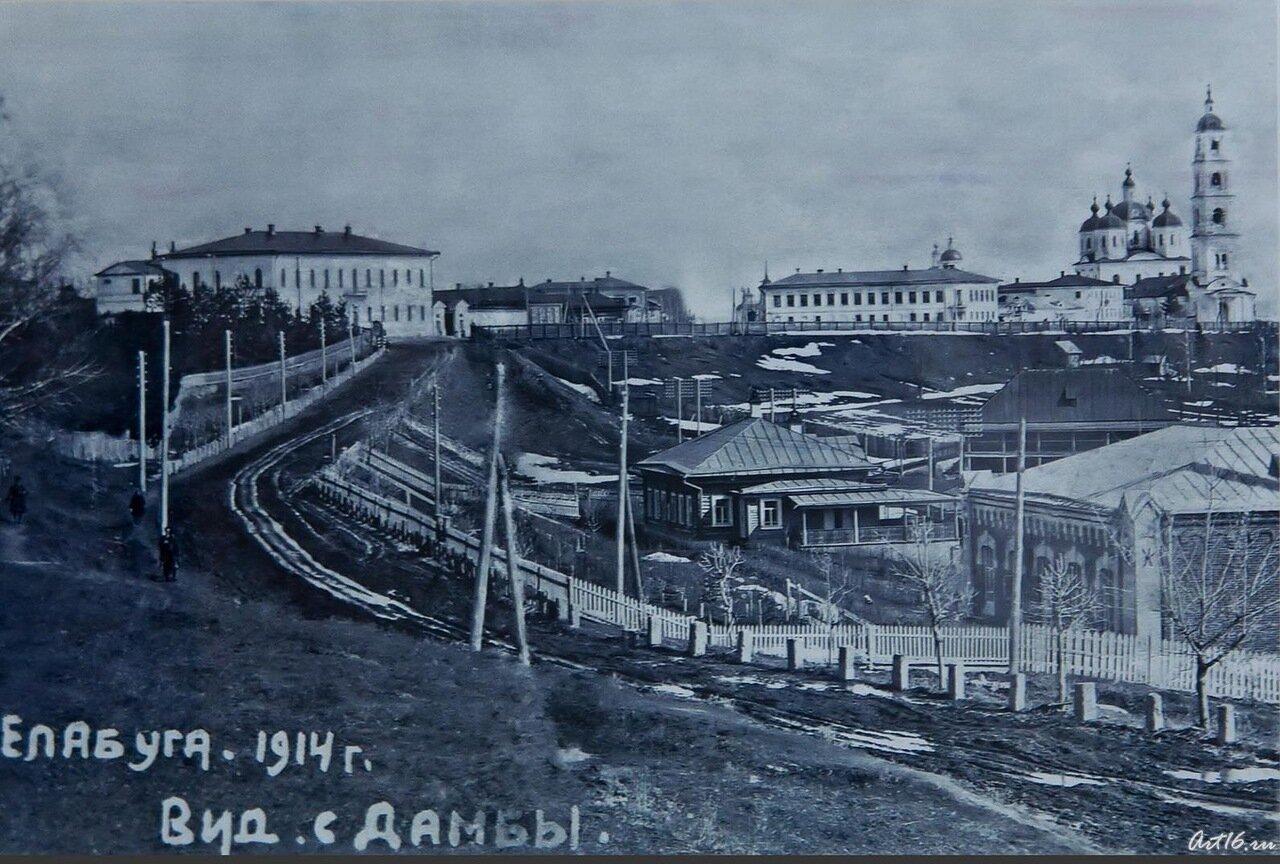 Вид с дамбы, 1914