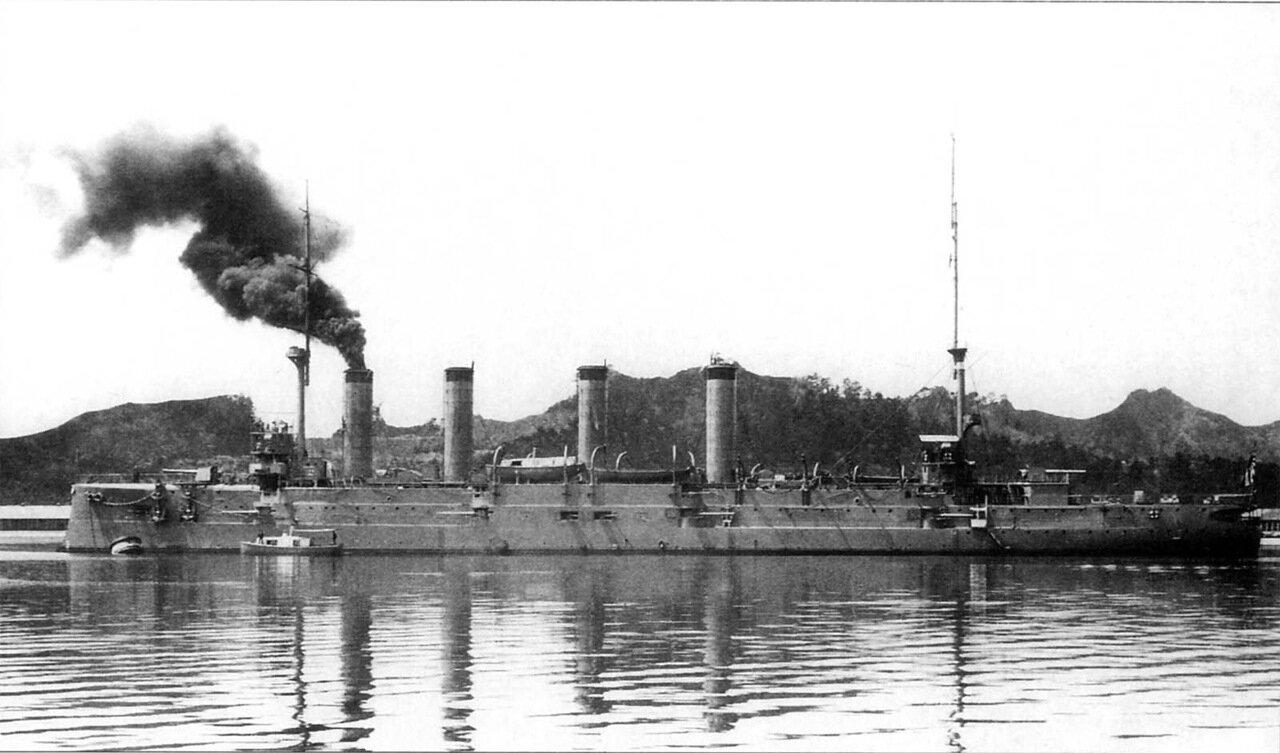 Японский крейсер Асо после ремонта в 1913 году
