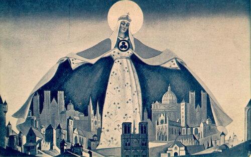 Н.К. Рерих «Мадонна Защитница» 1933