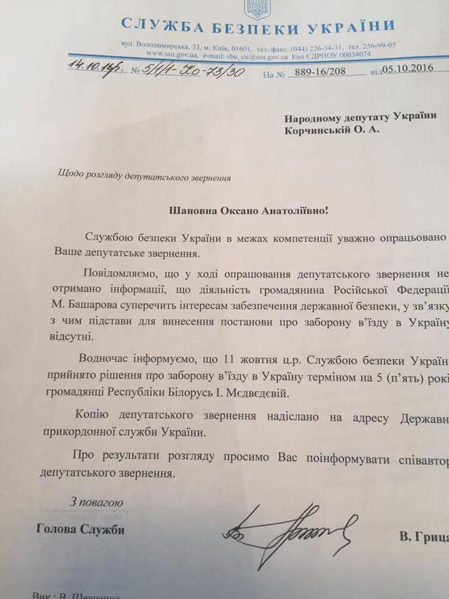 Наташе Королевой запретили въезд в Украину. ДОКУМЕНТ