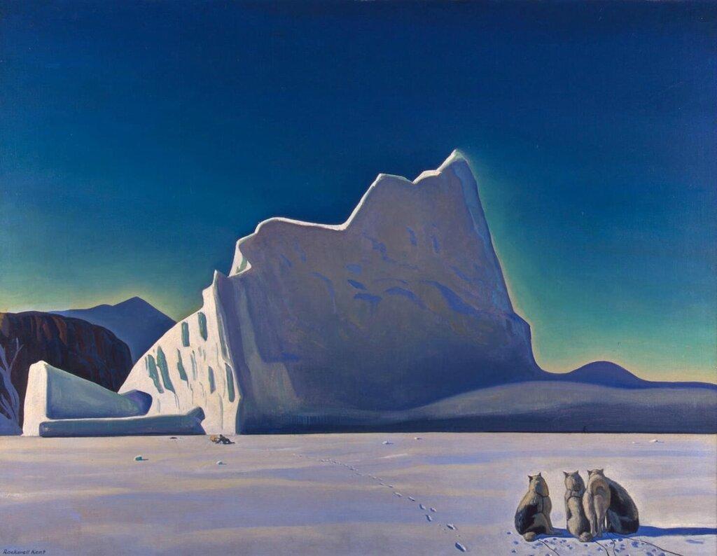 Эрмитаж: Кент, Рокуэлл - Охотник на тюленей. Северная Гренландия