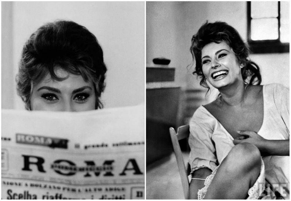 2. Актриса обменивается шутками с коллегами в перерыве между съемками, 1961 г.