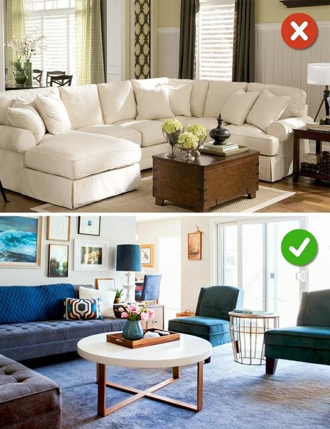 © homester  © designmyhome  Самая частая ошибка— заставить комнату мебелью, которая не