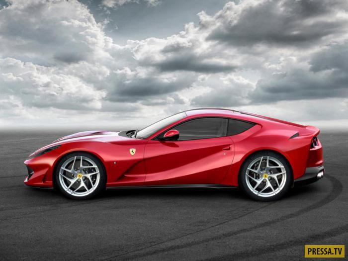 812 Superfast Ferrari способен развивать скорость, равную 211 миль/час, а до 100 км/час может разогн