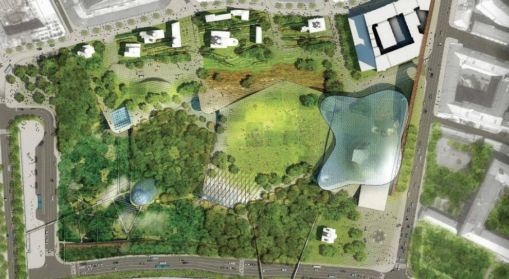 8. В проекте предусмотрено создание четырех природные зон — леса, тундры, степи и заливных луго